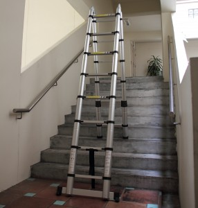 Telescopic Ladder at Staircase
